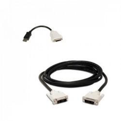 Adaptor cablu DisplayPort to DVI-D + cablu DVI-D to DVI-D - ShopTei.ro