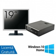 Pachet Calculator HP 6300 SFF, Intel Core i5-2400 3.10GHz, 4GB DDR3, 250GB SATA, 1 Port Com + Monitor 19 Inch + Windows 10 Home