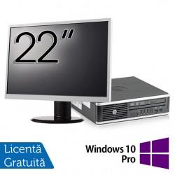 Pachet Calculator HP 8300 USDT, Intel Core i3-3220 3.30GHz, 8GB DDR3, 120GB SSD, DVD-RW + Monitor 22 Inch + Windows 10 Pro - ShopTei.ro