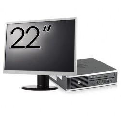 Pachet Calculator HP 8300 USDT, Intel Core i3-3220 3.30GHz, 8GB DDR3, 120GB SSD, DVD-RW + Monitor 22 Inch - ShopTei.ro