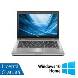 Laptop HP EliteBook 8460p, Intel Core i7-2620M 2.70GHz, 4GB DDR3, 120GB SSD, DVD-RW, 14 Inch, Webcam + Windows 10 Home - ShopTei.ro