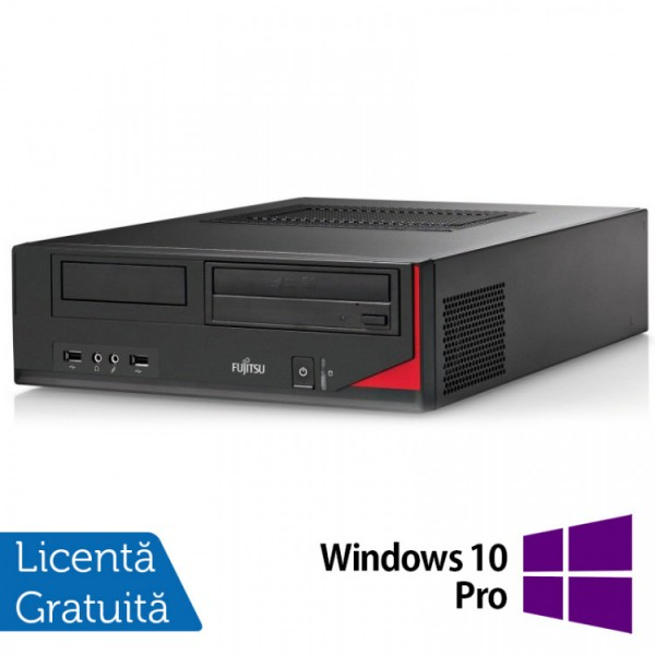 Calculator FUJITSU SIEMENS E410 Desktop, Intel Core i3-3220 3.30GHz, 4GB DDR3, 250GB SATA, Radeon HD7470 1GB GDDR3, DVD-RW + Windows 10 Pro - ShopTei.ro