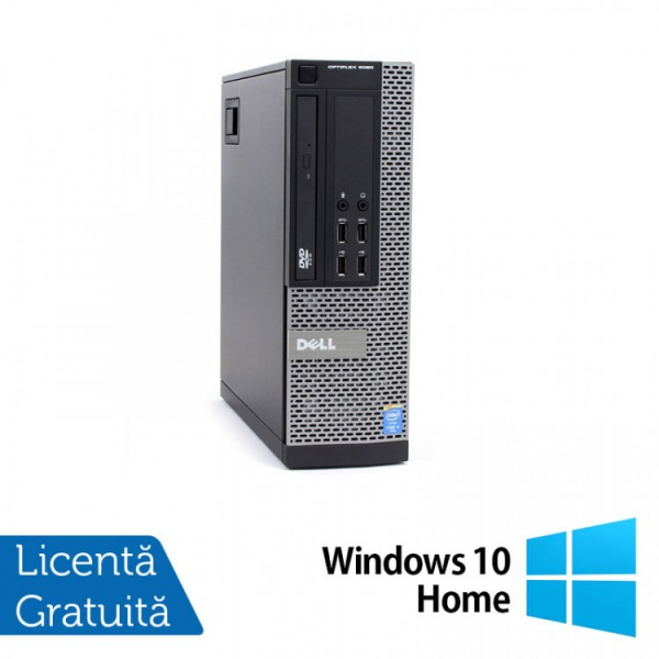 Calculator DELL OptiPlex 9020 SFF, Intel Core i3-4150 3.50GHz, 4GB DDR3, 500GB SATA, DVD-RW + Windows 10 Home - ShopTei.ro
