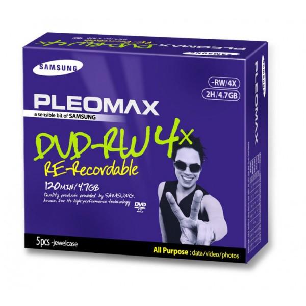DVD-RW Samsung Pleomax 4.7GB, 1-4X, Jewel Case, 5 Bucati - ShopTei.ro