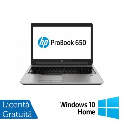 Laptop HP ProBook 650 G1, Intel Core i7-4600M 2.90GHz, 8GB DDR3, 120GB SSD, 15.6 Inch, DVD-RW, Webcam + Windows 10 Home - ShopTei.ro