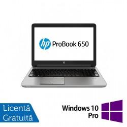 Laptop HP ProBook 650 G1, Intel Core i7-4600M 2.90GHz, 8GB DDR3, 120GB SSD, 15.6 Inch, DVD-RW, Webcam + Windows 10 Pro - ShopTei.ro
