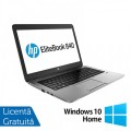 Laptop HP ProBook 840 G1, Intel Core i5-4300U 1.90GHz , 8GB DDR3, 120GB SSD, 14 Inch, Webcam + Windows 10 Home