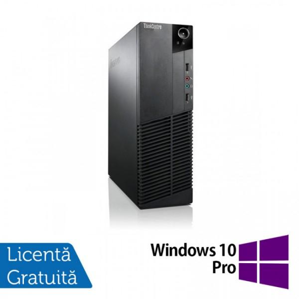 Calculator Lenovo Thinkcentre M83 SFF, Intel Core i3-4130 3.40GHz, 4GB DDR3, 250GB SATA + Windows 10 Pro - ShopTei.ro