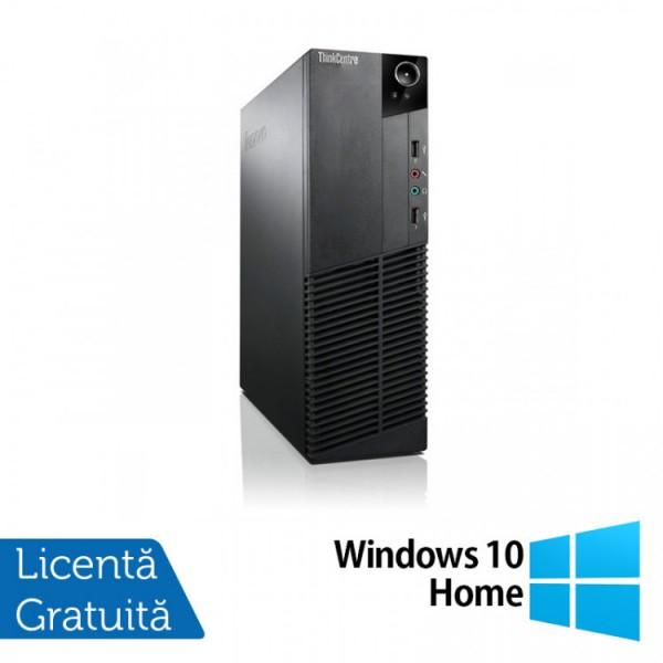 Calculator Lenovo Thinkcentre M83 SFF, Intel Core i3-4130 3.40GHz, 4GB DDR3, 250GB SATA + Windows 10 Home - ShopTei.ro