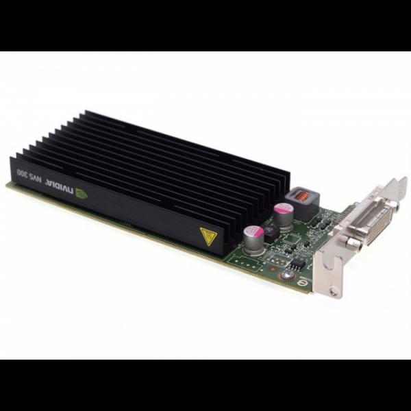 Placa video Nvidia Quadro NVS 300, 512MB DDR3, 64-bit, Low Profile + Cablu DMS-59 cu doua iesiri VGA - ShopTei.ro