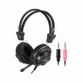 Casti A4Tech HS-28-1, 40mm, Jack 3.5mm, Cu microfon, Negru