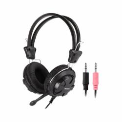 Casti A4Tech HS-28-1, 40mm, Jack 3.5mm, Cu microfon, Negru - ShopTei.ro