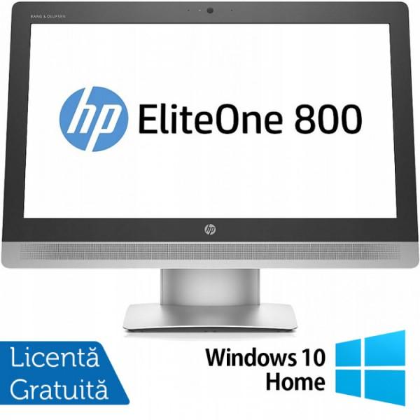 All In One HP EliteOne 800 G2, 23 Inch Full HD, Intel Core i5-6500 3.20GHz, 16GB DDR4, 240GB SSD, DVD-RW, Webcam + Windows 10 Home - ShopTei.ro