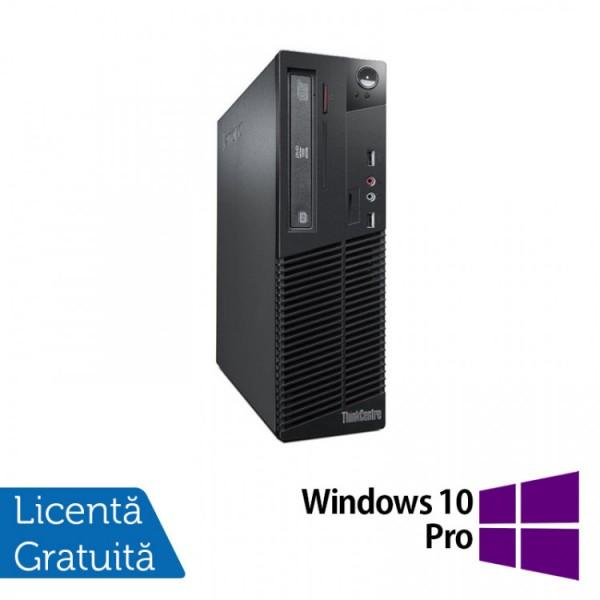 Calculator Lenovo Thinkcentre M73 SFF, Intel Core i5-4570 3.20GHz, 4GB DDR3, 500GB SATA, DVD-ROM + Windows 10 Pro - ShopTei.ro