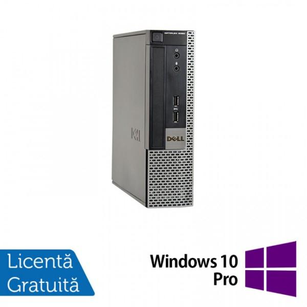 Calculator Dell OptiPlex 9020 USFF, Intel Core i5-4570s 2.90GHz, 4GB DDR3, 500GB SATA, DVD-RW + Windows 10 Pro - ShopTei.ro