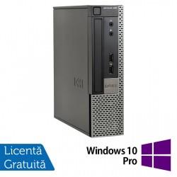 Calculator Dell 990 USFF, Intel Core i5-2400s 2.50GHz, 4GB DDR3, 250GB SATA, DVD-RW + Windows 10 Pro - ShopTei.ro