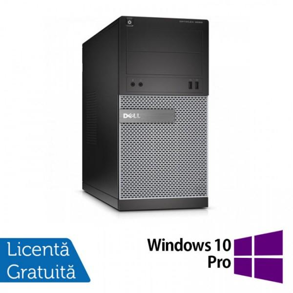 Calculator DELL Optiplex 3020 Tower, Intel Pentium G3220 3.00GHz, 8GB DDR3, 120GB SSD, DVD-ROM + Windows 10 Pro - ShopTei.ro