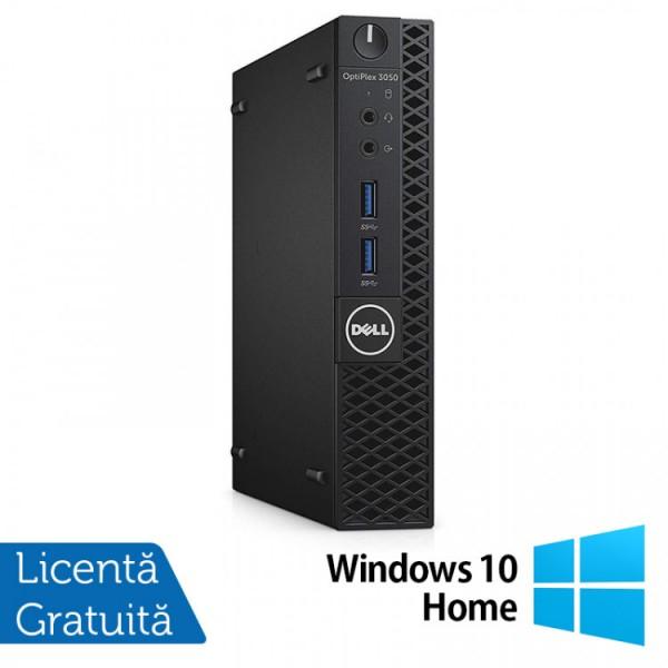 Calculator DELL Optiplex 3060 MiniPC, Intel Core i3-8100T 3.10GHz, 4GB DDR3, 500GB SATA + Windows 10 Home