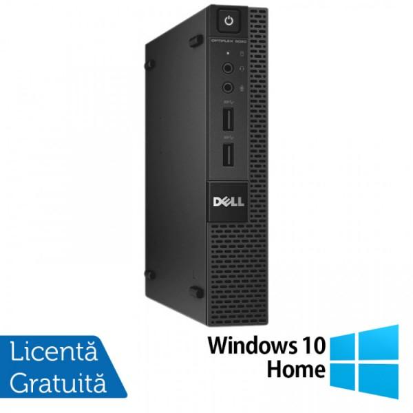 Calculator Dell OptiPlex 9020 Micro PC, Intel Core i3-4160T 3.10GHz, 4GB DDR3, 500GB SATA + Windows 10 Home - ShopTei.ro