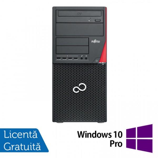 Calculator Fujitsu Siemens Esprimo P910 Tower, Intel Pentium G2120 3.10GHz, 4GB DDR3, 500GB SATA + Windows 10 Pro - ShopTei.ro