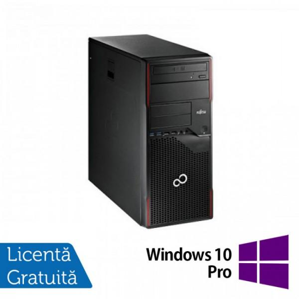 Calculator Fujitsu ESPRIMO P710 Tower, Intel Core i5-3470 3.20GHz, 4GB DDR3, 500GB SATA, DVD-ROM + Windows 10 Pro - ShopTei.ro