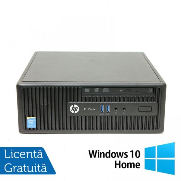 Calculator HP 400 G2.5 SFF, Intel Core i5-4590s 3.00GHz, 4GB DDR3, 500GB SATA, DVD-RW + Windows 10 Home - ShopTei.ro
