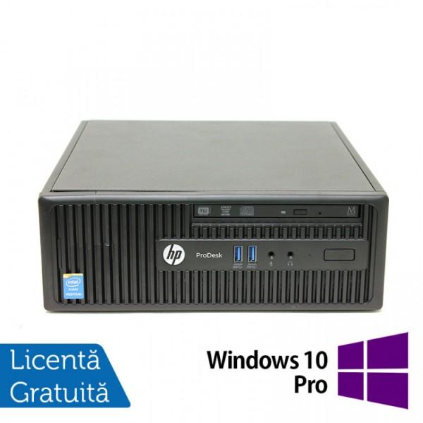 Calculator HP 400 G2.5 SFF, Intel Celeron G1850 2.90GHz, 4GB DDR3, 500GB SATA, DVD-RW + Windows 10 Pro - ShopTei.ro