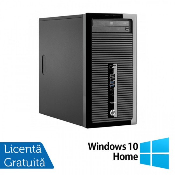 Calculator HP 400 G2 Tower, Intel Core i3-4130 3.40GHz, 4GB DDR3, 120GB SSD, DVD-RW + Windows 10 Home - ShopTei.ro