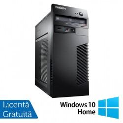 Calculator Lenovo ThinkCentre M71e Tower, Intel Core i5-2400 3.10GHz, 8GB DDR3, 120GB SSD + 500GB HDD, Placa video Gaming AMD Radeon R7 350 4GB, DVD-ROM + Windows 10 Home - ShopTei.ro