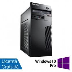 Calculator Lenovo ThinkCentre M71e Tower, Intel Core i5-2400 3.10GHz, 8GB DDR3, 120GB SSD + 500GB HDD, Placa video Gaming AMD Radeon R7 350 4GB, DVD-ROM + Windows 10 Pro - ShopTei.ro