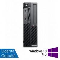 Calculator LENOVO M90 SFF, Intel Core i3-530 2.93GHz, 4GB DDR3, 320GB SATA, DVD-RW + Windows 10 Pro
