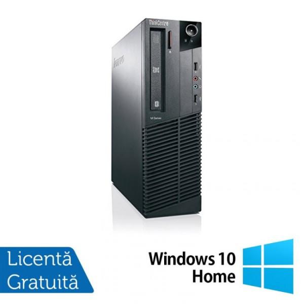 Calculator Lenovo Thinkcentre M83 SFF, Intel Core i3-4130 3.40GHz, 8GB DDR3, 120GB SSD + Windows 10 Home - ShopTei.ro