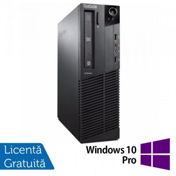 Calculator Lenovo Thinkcentre M83 SFF, Intel Pentium G3220 3.00GHz, 8GB DDR3, 500GB SATA + Windows 10 Pro - ShopTei.ro