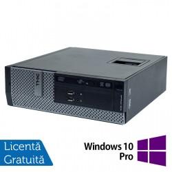 Calculator DELL 3010 SFF, Intel Core i3-3220 3.30GHz, 4GB DDR3, 250GB SATA, DVD-ROM + Windows 10 Pro - ShopTei.ro