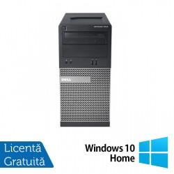 Calculator Dell OptiPlex 3010 Tower, Intel Core i3-3240 3.40GHz, 4GB DDR3, 500GB SATA, DVD-RW + Windows 10 Home - ShopTei.ro