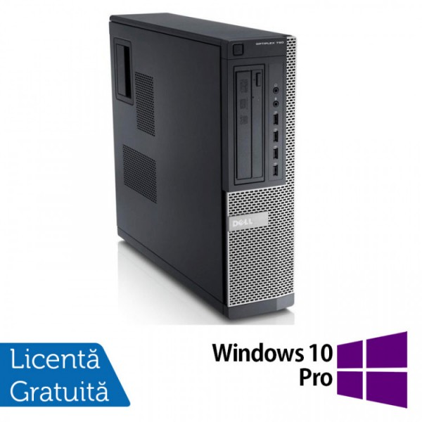 Calculator DELL 790 Desktop, Intel Pentium G840 2.80GHz, 4GB DDR3, 250GB SATA, DVD-RW + Windows 10 Pro - ShopTei.ro