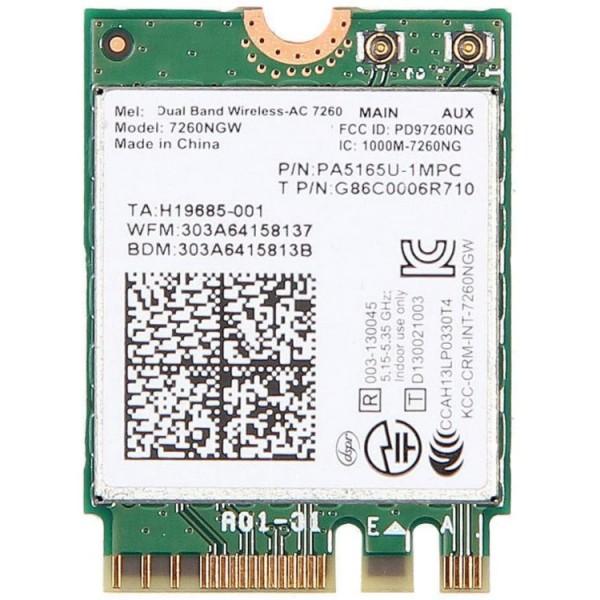 Modul M.2 2230 Intel Dual Band Wireless AC, 7260NGW, 867Mbps, 802.11ac, 2x2, Bluetooth 4.0, Compatibil doar cu Lenovo Thinkpad - ShopTei.ro