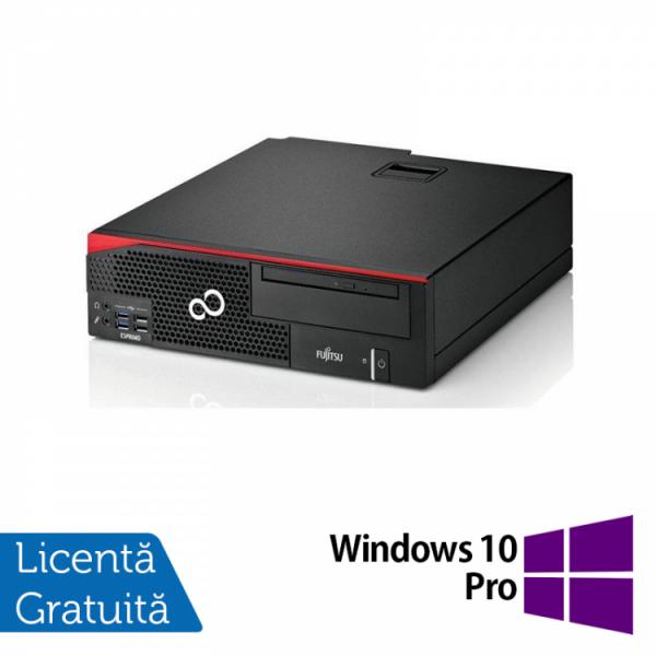 Calculator Fujitsu Esprimo D756 SFF, Intel Core i3-6100 3.10GHz, 8GB DDR4, 500GB SATA, DVD-RW + Windows 10 Pro - ShopTei.ro