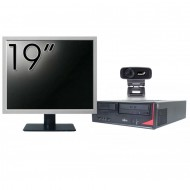 Pachet Calculator Fujitsu E410, Intel Core i3-3220 3.30GHz, 4GB DDR3, 500GB SATA + Monitor 19 Inch + Webcam + Tastatura si Mouse