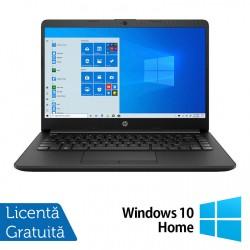 Laptop Nou HP 14-DK1031, AMD Ryzen 3 3250U 2.60GHz, 8GB DDR4, 1TB SATA, Bluetooth, Webcam, 14 Inch, Jet Black + Windows 10 Home - ShopTei.ro