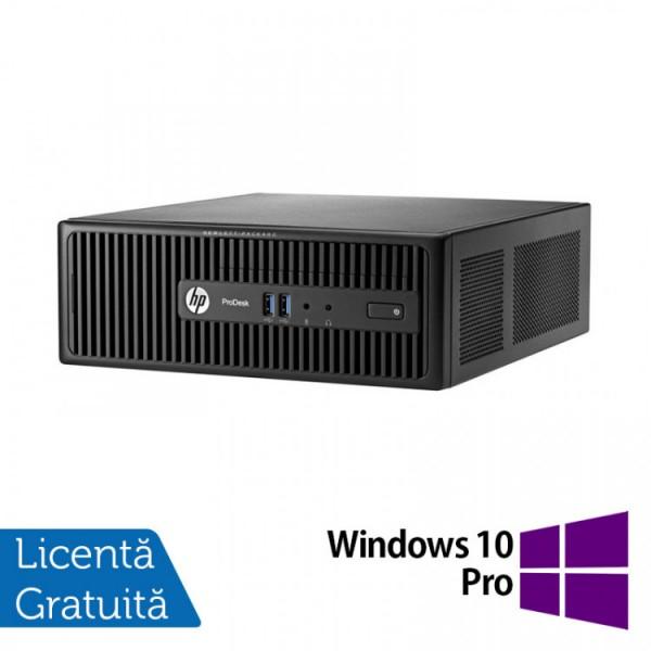 Calculator HP 400 G3 SFF, Intel Core i3-6100 3.70GHz, 8GB DDR4, 1TB SATA, DVD-RW + Windows 10 Pro - ShopTei.ro