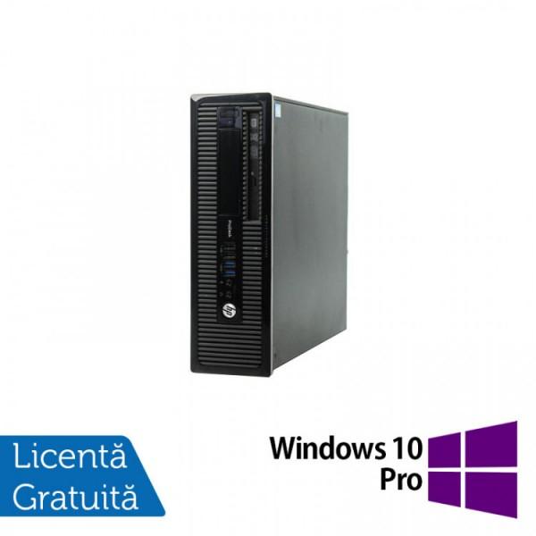 Calculator HP 400 G1 SFF, Intel Core i3-4130 3.40GHz, 4GB DDR3, 500GB SATA, DVD-RW + Windows 10 Pro - ShopTei.ro