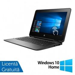 Laptop HP ProBook x360 11 G1, Intel Celeron N3350 1.10GHz, 4GB DDR3, 120GB SSD, TouchScreen, Webcam, 11 Inch + Windows 10 Home - ShopTei.ro