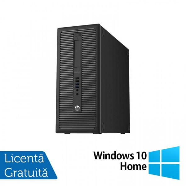 Calculator HP Prodesk 600G1 Tower, Intel Core i3-4130 3.40GHz, 8GB DDR3, 500GB SATA + Windows 10 Home - ShopTei.ro