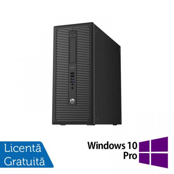 Calculator HP Prodesk 600G1 Tower, Intel Core i3-4130 3.40GHz, 8GB DDR3, 500GB SATA + Windows 10 Pro - ShopTei.ro