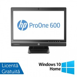 All In One HP ProOne 600 G1, 21.5 Inch Full HD, Intel Core i5-4570S 2.90GHz, 4GB DDR3, 500GB SATA, DVD-RW + Windows 10 Home - ShopTei.ro