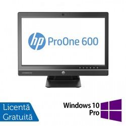 All In One HP ProOne 600 G1, 21.5 Inch Full HD, Intel Core i5-4570S 2.90GHz, 4GB DDR3, 500GB SATA, DVD-RW + Windows 10 Pro - ShopTei.ro