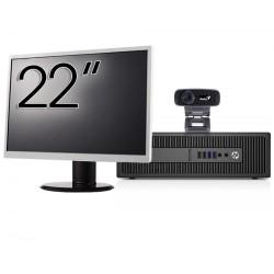 Pachet Calculator HP 800 G2 SFF, Intel Core i5-6500 3.20GHz, 8GB DDR4, 240GB SSD + Monitor 22 Inch + Webcam + Tastatura si Mouse - ShopTei.ro