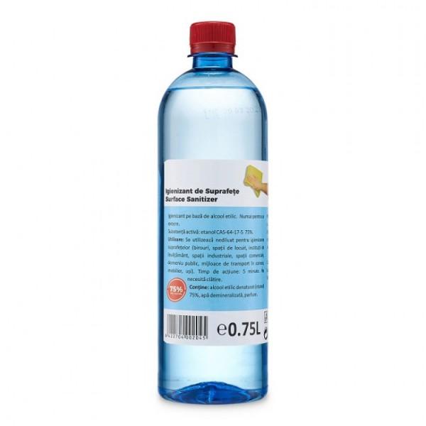 Igienizant de suprafete 0.75L, 75% pe baza de Alcool Etilic - ShopTei.ro