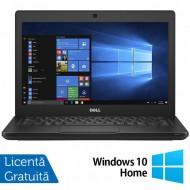 Laptop DELL Latitude 5280, Intel Core i5-7200U 2.50GHz, 8GB DDR4, 120GB SSD M.2, 12.5 Inch, Webcam + Windows 10 Home